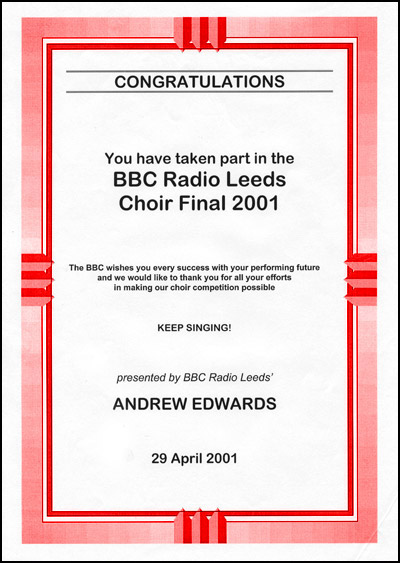 Stage 84 selected for BBC Choir of the Year