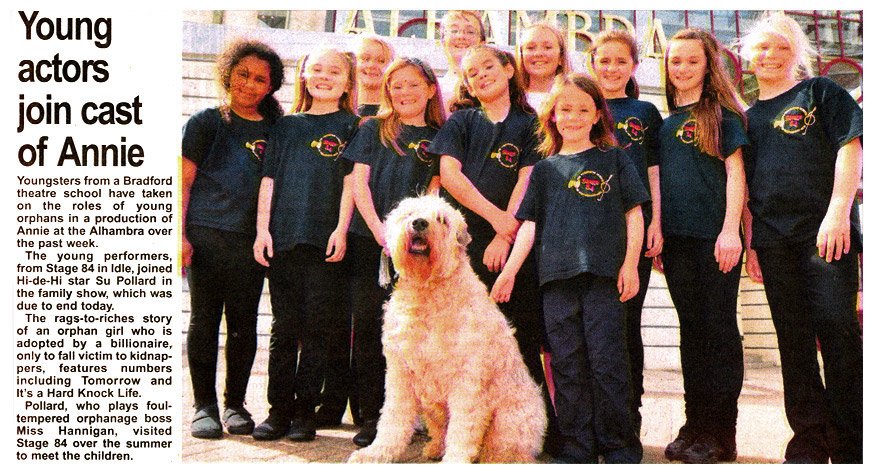 Stage 84 Young actors join the cast of Annie