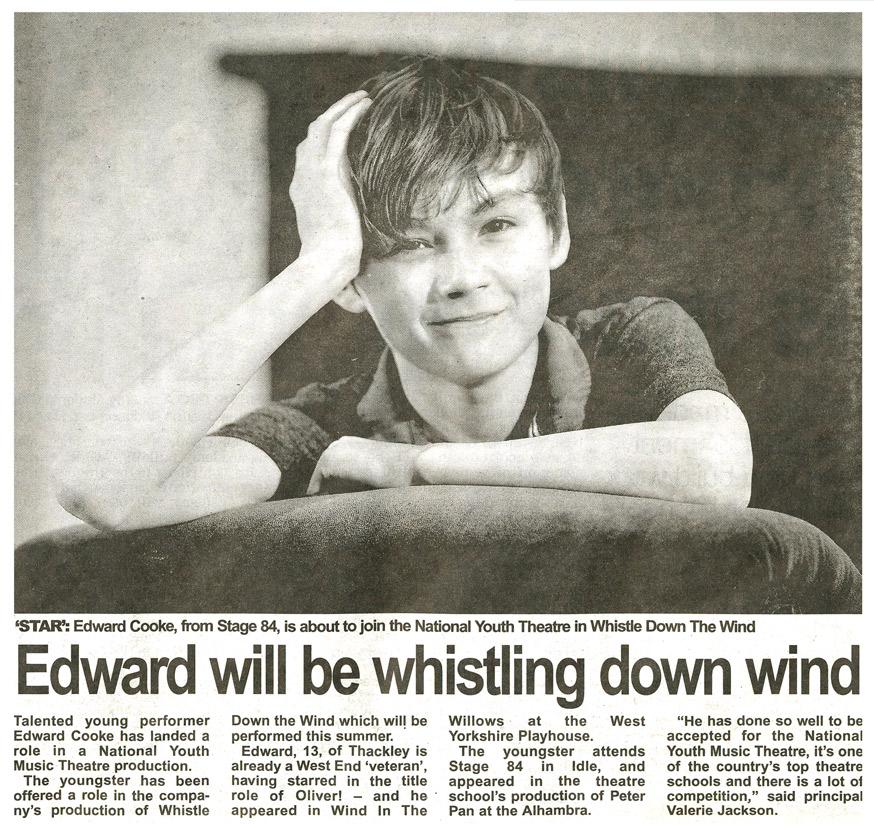 Stage 84 pupil cast in Whistle Down the Wind