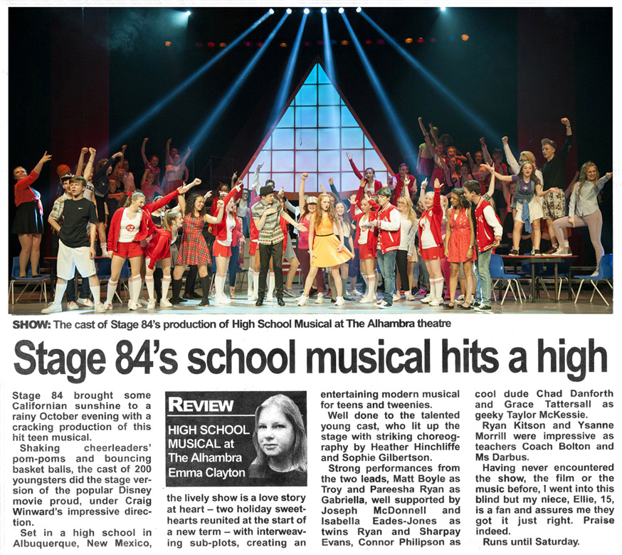 Stage 84's school musical hits a high