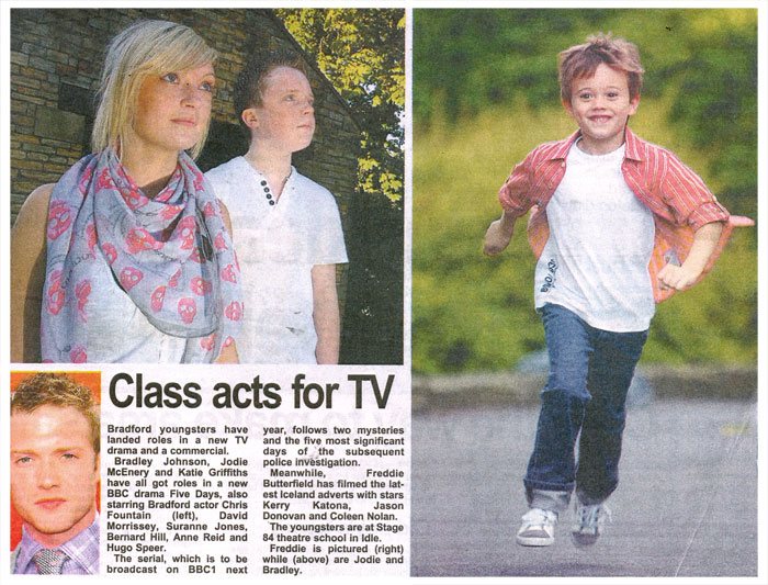 TV and advertising success for Stage 84 students