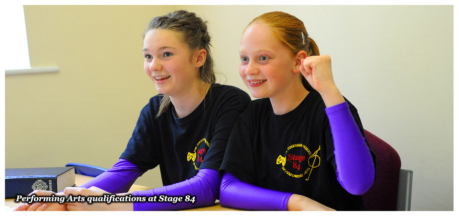 Performing arts qualifications at Stage 84